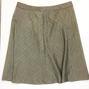 Merona a-line Brown pinstriped skirt size 12 wool